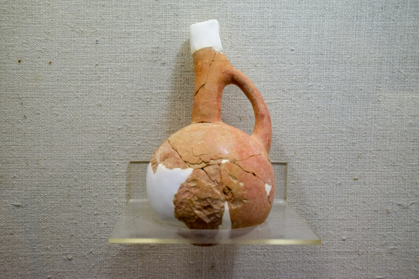 ancient pottery vessels and amphorae in