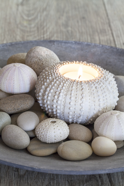 maritime still life with candle