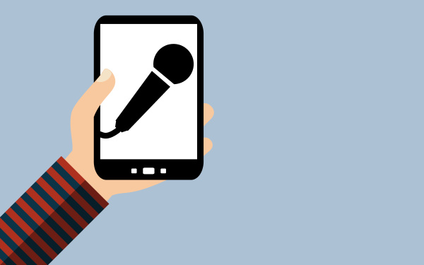 smartphone:, voice, recording, with, microphone, - - 27135425