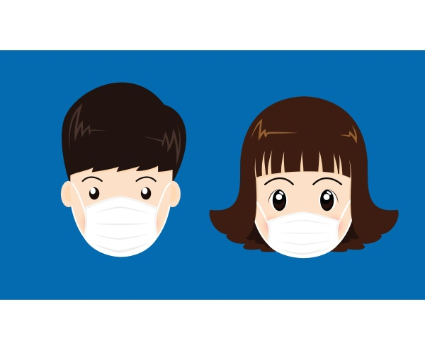 people face wearing a medical mask