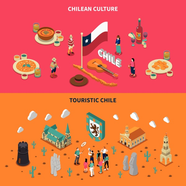 chile top touristic attractions 2 isometric