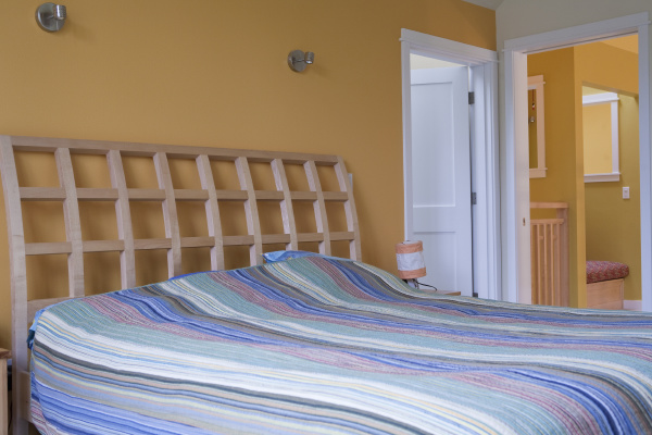 bedroom of a disability accessible home