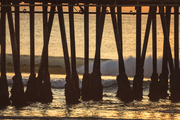 imperial beach pier at twilight san