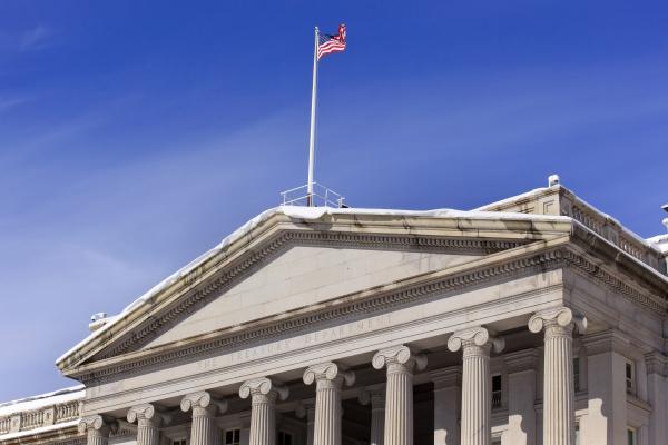 treasury department us flag