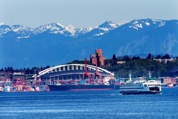 seattle washington state port ferry with