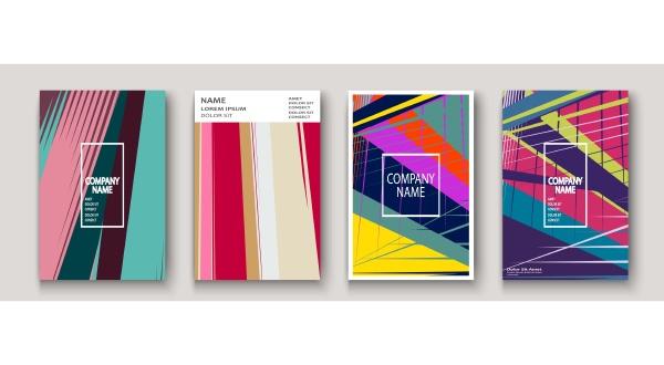 modern cover collection design abstract retro