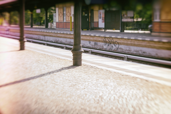 germany berlin empty railway station platform