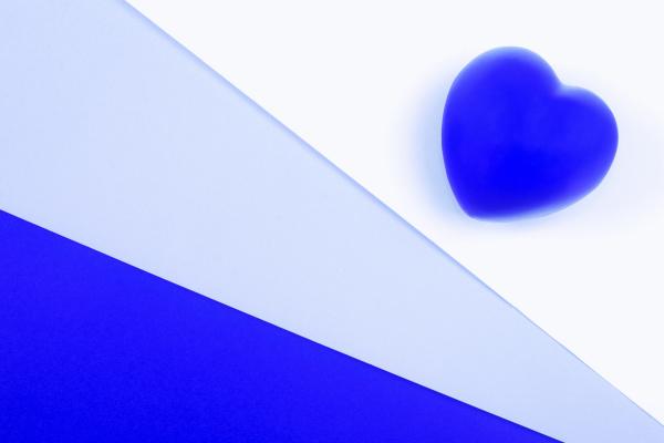 blue heart valentines day