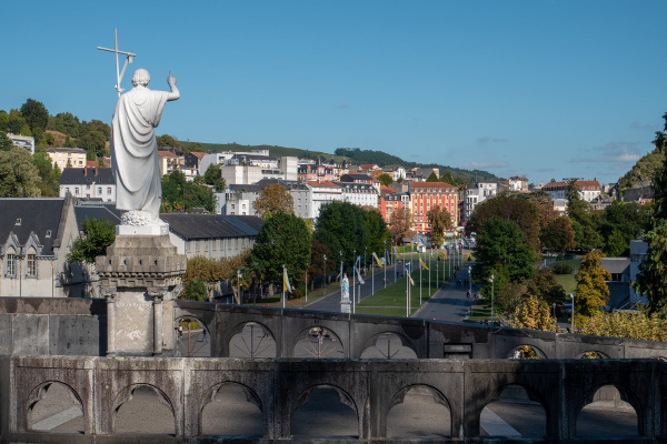 panorama of lourdes city france
