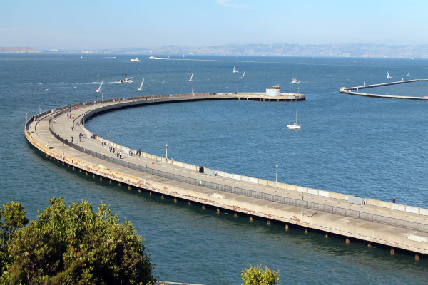 the old curved pier