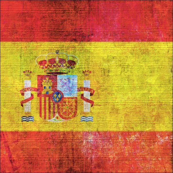 spanish flag in grunge style