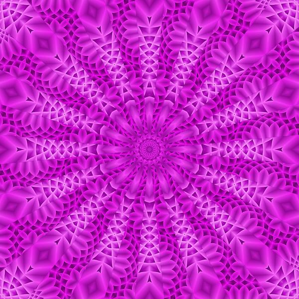 bright pink gradient symmetrical pattern