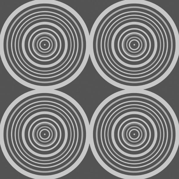 symmetrical circle design in grey