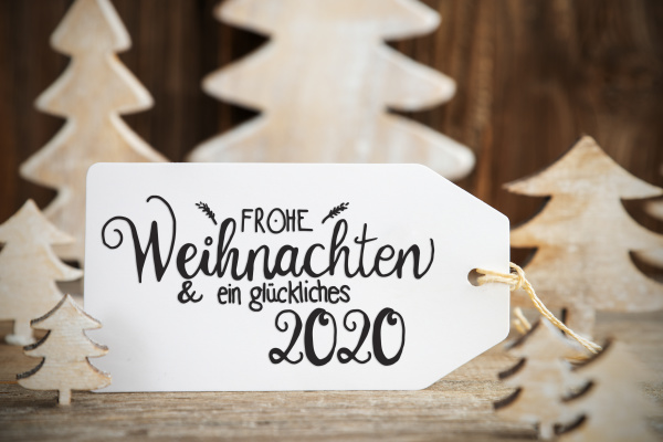 white christmas tree label