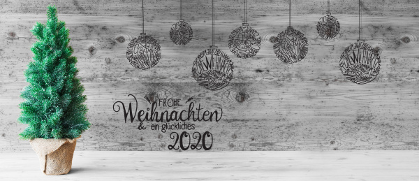 christmas tree ball glueckliches 2020 means