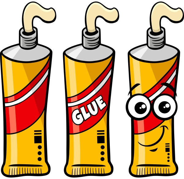 tube of glue object and character