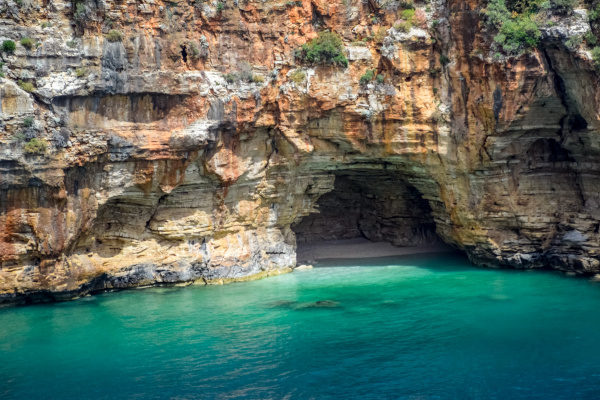 coastal cliffs of limestone the coast