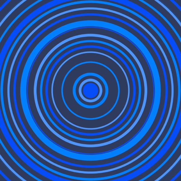 symmetrical circle design in blue