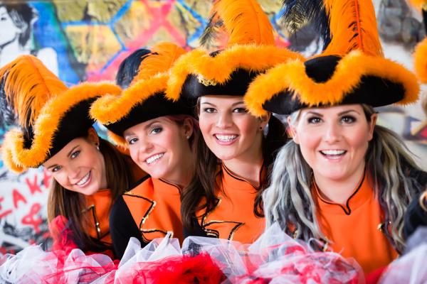 german traditional dance group funkenmariechen in