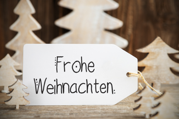 christmas tree label text frohe weihnachten