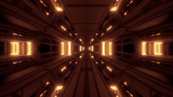 dark clean futuristic scifi space hangar