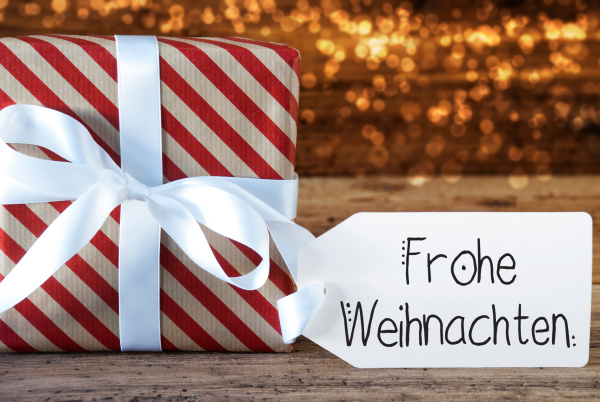 christmas present label frohe