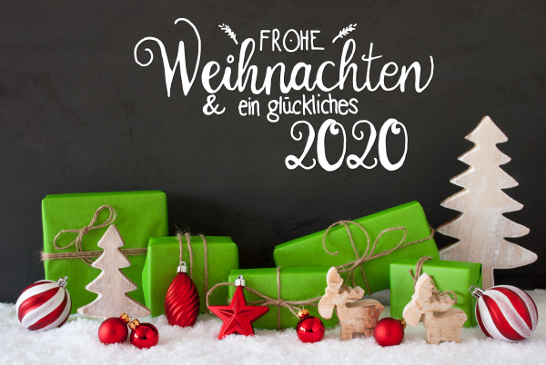snow tree gift ball glueckliches 2020