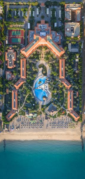 aerial view of fujairach rotana resort