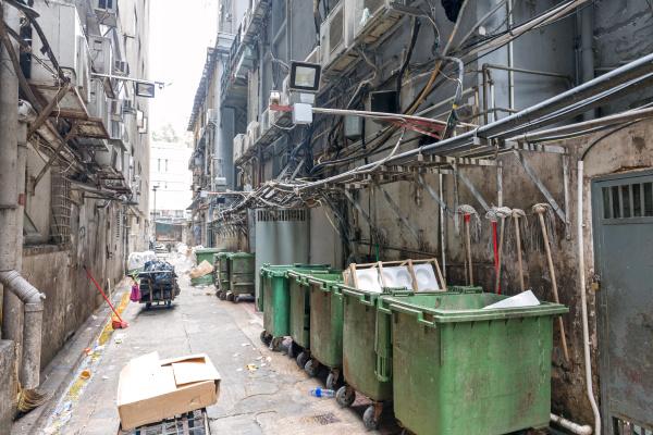 trash bins alley