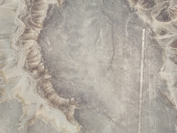 aerial view of geometric shapes geoglyph