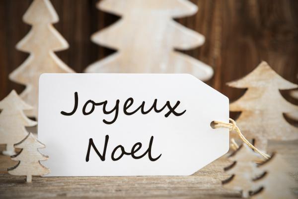christmas tree label joyeux