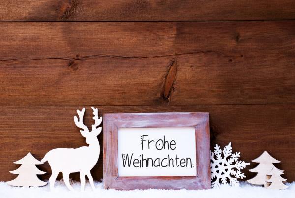 vintage frame deer tree