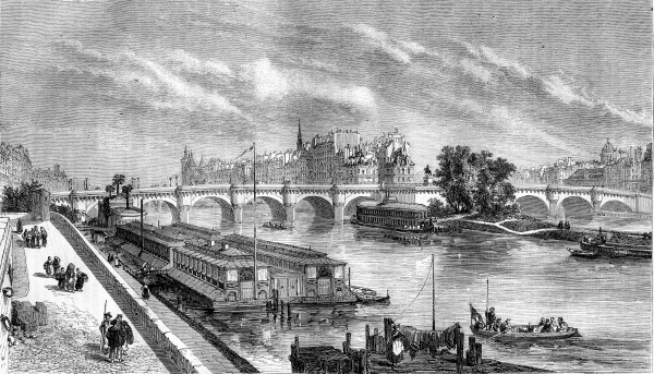 view of the pont neuf restored