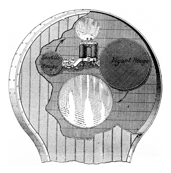 inside the hall signal vintage engraving