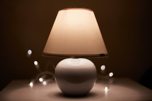 lamp on a nightstand