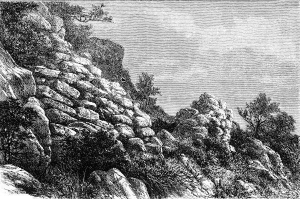 a prehistoric camp near menton vintage