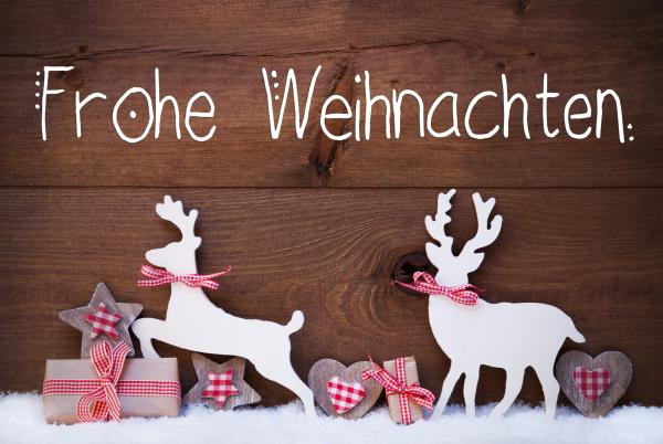 gift deer heart snow frohe weihnachten