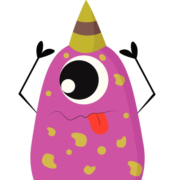 pink and yellow one eyed party