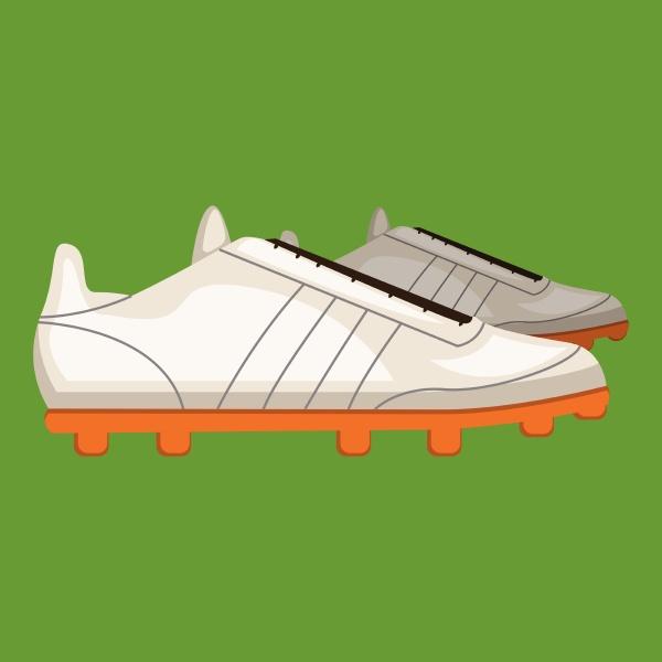 gym shoe vector color illustration