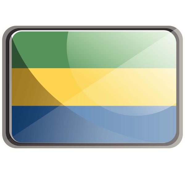 vector illustration of gabon flag on