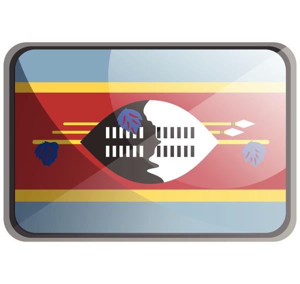 vector illustration of swaziland flag on