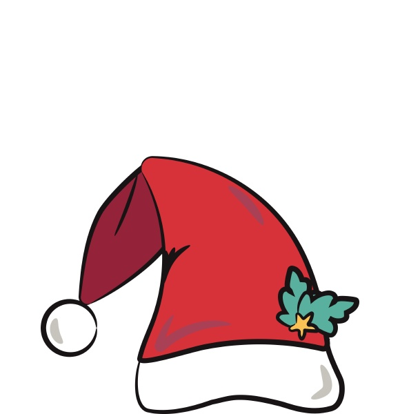 santa claus hat with ornament vector
