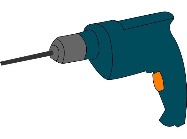 blue drill illustration vector on white