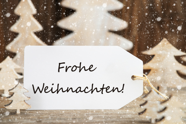 christmas tree label frohe weihnachten means