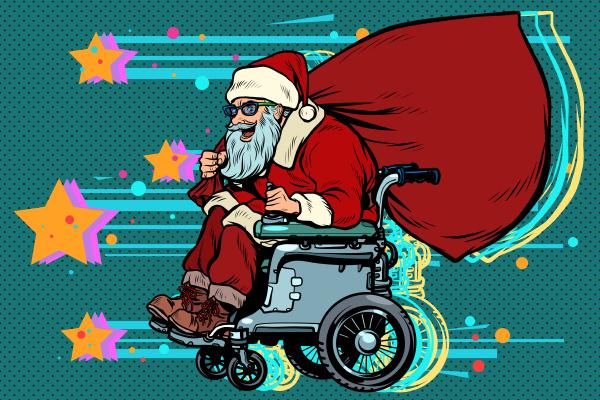 santa claus is an active wheelchair
