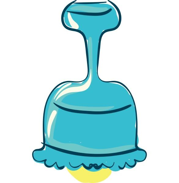 blue chandelier vector or color