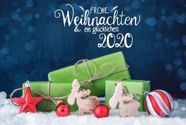 glueckliches 2020 means happy 2020 green