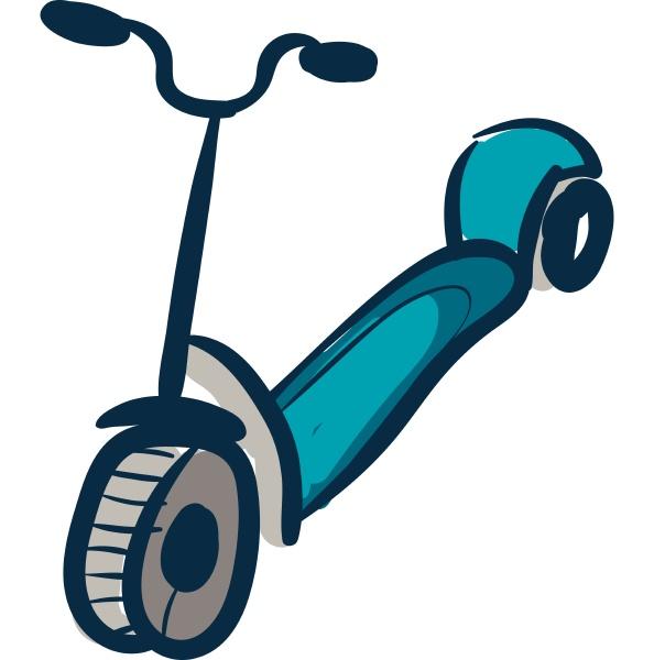 scooter hand drawn design illustration vector