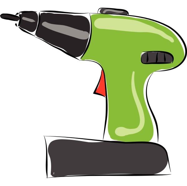 drill hand drawn design illustration vector