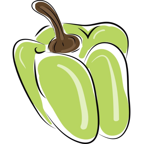 pepper hand drawn design illustration vector